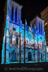 San Antonio, San Fernado de Bexar Catherdral, The Saga, Xavier De Richemont, amazing, beautiful, catherdral, church, destination, downtown, french artist, historic, landmark, light show, main plaza, s