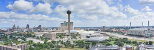 San Antonio skyline, Alamo Dome, Hemisphere, River Walk, SA, San Antonio, The Grand Hyatt, Tower Life, Tower of Americas, UT SA, Weston Center, aerial, drone, bank of america, cityscape, cityscapes, h