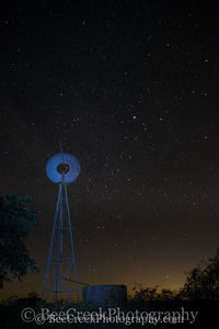 night sky, spinning, star, stars, windmill, galaxy, Texas Hill Country,