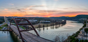 Austin 360 bridge, pennybacker bridge, Austin, Lake Austin, scenic, sunset, landscape, landscapes, sunset colors, scenery, clouds, images of austin, texas hill country, texas scenery,