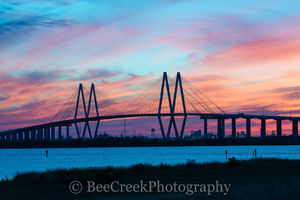 Baytown, Harris County, Houston, La Porte, architectural, architecture, cable stay bridge, city, cityscape, cityscapes, colorful, landscape, landscapes, orange, pinks, ship channel, sky, sunset, texas