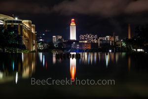 Austin, UT, University of Texas, tower, campus. building, orange, burnt, wins, game, stadium, UT tower, stadium, landmark, images of austin, images of texas,