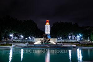 Austin, University of Texas, UT Tower, Littlefield Fountain, campus, downtown, burnt orange, downtown, landmark,