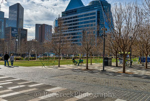 Dallas, Klyde Warren Park, architecture, art district, buildings, city, downtown, people, views