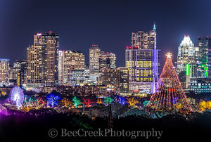 Austin, Austin 360 Condos, Christmas Tree, Ferris wheel, Frost, Zilker Christmas tree, cityscape, cityscapes, high rises, holiday, holidays, skyline, skylines, trail of lights, austin skylines, austin