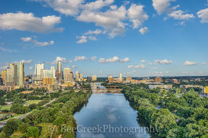 austin, aerial, cityscape, cityscapes, skyline, skylines, downtown, ladybird lake, town lake, city, clouds, bridges, lamar street bridge, first st. bridge, congress, lake, water, clouds, , austin skyl