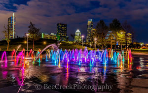 Austin Night, Austin Water Fountain, Austin at night with water fountain, Austin skyline at night, Austin skyline , butler park, pictures, Liz Carpenter Fountain, Liz Carpenter water fountain, austin