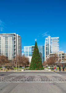 Christmas Tree, Dallas, Klyde Warren Park, buildings, city, city life, cityscape, cityscapes, downtown, lifestyles, park, people, street, urban
