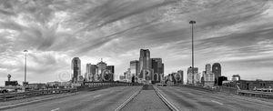 Dallas Cityscape BW Pano