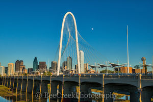 Dallas, Margret Hunt Hill Bridge along with the Continental Pedestrian B, cityscape, cityscapes, skyline, skylines