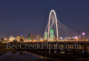 Dallas Margaret Hunt Hill Bridge Dark