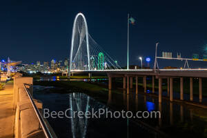 Dallas Pedestrian Bridge View Night