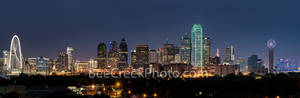 Dallas Skyline Dusk Pano