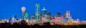 Dallas Skyline Panorama Night2