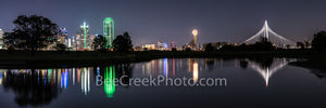 Dallas Skyline Reflection Pano 2