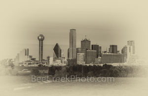 Dallas Vintage Skyline