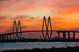 Fred Hartman Bridge Orange Glow