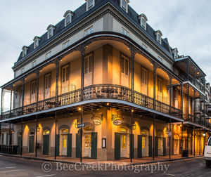New Orleans, French Quarter, Hotel Marie, Louisiana, hotel, style, metal work, french, , New Orleans cityscape, architecture,