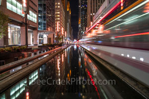 Houston, rail, mass transit, city, skyline, downtown, cityscape, cityscapes, street scene, high rise, buildings, water, mass transit,