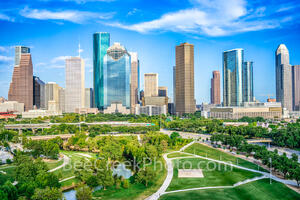 Houston Skyline Aerial View