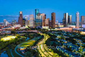 Houston, Houston skyline, downtown houston, skyline, cityscape, downtown, Buffalo Bayou, Eleanor Tinsley Park, Jamail Skate Park, hike and bike trail, Astros, business, skyscrapers, tech, banking, uni
