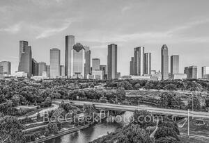 Houston Skyiine B W