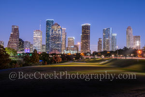 Houston Skyline Dusk