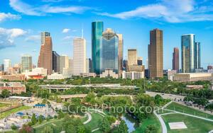 Houston Skyline from Above