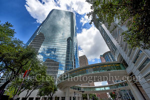 Houston, downtown, Chevron, skybridge, skyscraper,