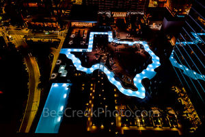Houston, Marqui Marriot Pool. downtown, city,