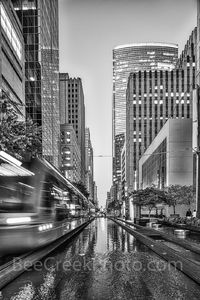 Houston, black and white, buildings, bw, city, cityscape, cityscapes, downtown, high rise, mass transit, rail, skyline, street scene, water, urban, street, streetphotography, urbanphotography, ig_stre