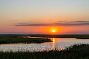 Jekyll island, jekyll river, marshlands, sunset, salt marsh, marsh wetlands, golden isles, shrimp, golden color, season, barrier island,  george coast, coastal,
