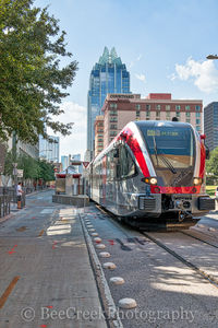 Austin, Rail, metro, downtown, city, cityscape, Frost, skyscraper, buildings, mass transit, station, Courtyard Marriott, lifestyles, lifestyle,