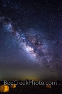Astronomy, astrophotography, milky way, celestial, haybales,  ranch, dark,  gallaxy solar system, night, night landscape, night landscapes, night photo, star images, starry, starry skies, Texas, milky