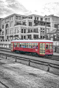 New Orleans Street Car BW
