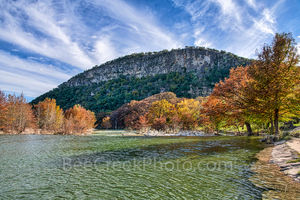 Fall, autumn, colors, Garner State Park, Texas landscape, canvas, prints, Texas hill country, trees, maples, cypress trees, old baldy, downstream, dam, rocks, fall landscapes,