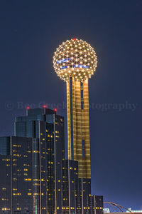 Dallas, Hyatt Regency, cityscape, downtown, night, reunion tower