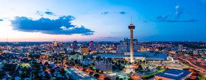 San Antonio Skyline at Twilight Pano2