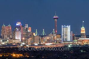 San Antonio Skyline Night