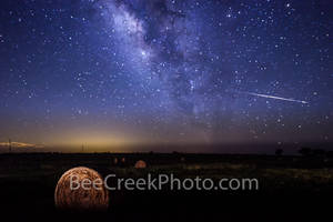 Shooting Stars Acorss the Milky Way