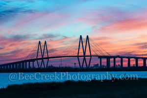 Sunset at Fred Hartman Bridge
