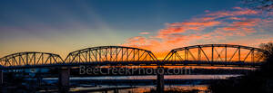 Llano bridge, texas hill country, sunset, pictures of texas, hill country, image of texas, photos of texas, Llano, llano river, pano, panorama, town, flooding, low water dam,