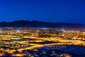 Tucson, night, View of Tucson, cityscape, downtown, city,  images of Tucson, photos of Tucson, pictures of Tucson, photographs of Tucson, Tucson mountains, Tucson skyline, Tucson cityscape, Tucson, Ar