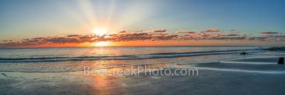 Driftwood beach, Georgia, sunrise, jekyll island, rays, ocean, alantic ocean, driftwood, boneyard beach, stumps, trees, pano, panorama, coast, coastal, sandy beach, beach, sea and sand, Golden Isles,