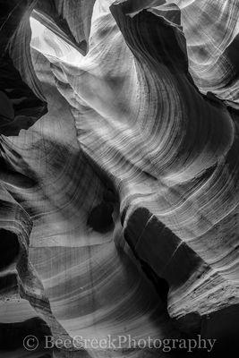 Antelope Canyon in BW