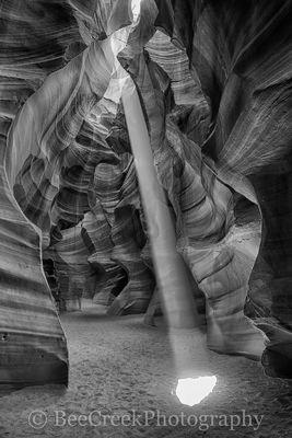 Antelope Canyon in BW 2