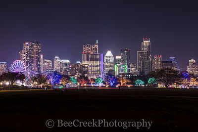Austin, Christmas, buildings, city, cityscape, downtown, festival, holiday, skyline, skylines, trail of lights, austin skylines, austin cityscapes