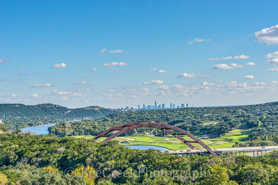360 bridge, Austin, Lake Austin, Pennybacker bridge, cityscape, cityscapes, colorado river, downtown, hills, skyline, skylines