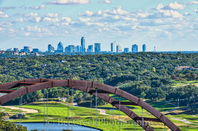 360 bridge, Austin, Austin Country Club, Pennybacker bridge, cities, city, cityscape, downtown, golf course, modern, skyline, urban,