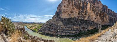 Rio Grande River, Santa Elena Canyon, catus, landscape